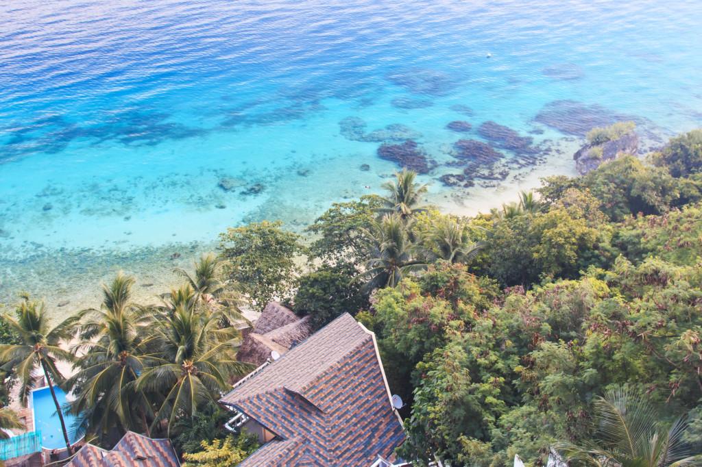 Resort overlooking the ocean