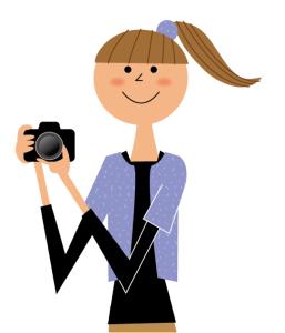 写真撮影のイラスト