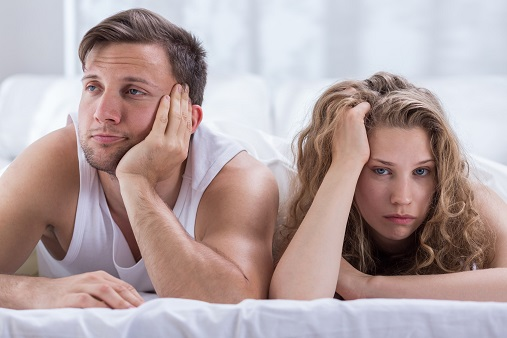 Couple having problems in bedroom
