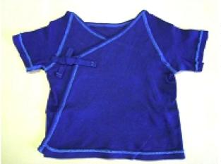藍染めのベビー服