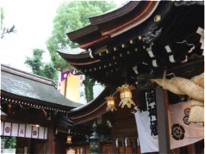 お祭りの神社