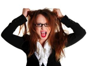 ストレスのたまった女性