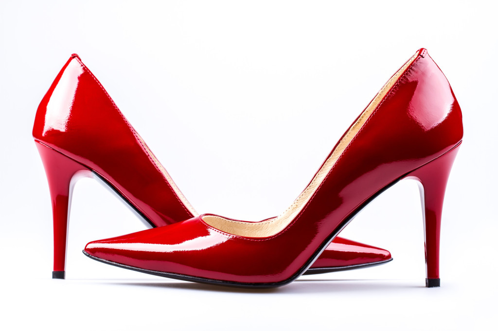 Red woman shoes.