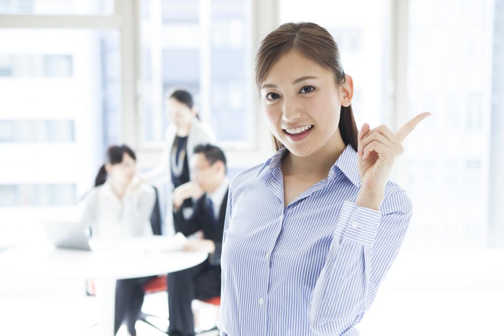 職場で元気な女性