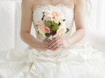 The bride who has a bouquet