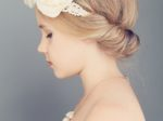 Young Girl. Profile. Blonde Hair with Bohemian Boho Chic Hairsty