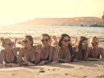 Girls enjoying the sunshine