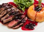 roasted beef with berry sauce